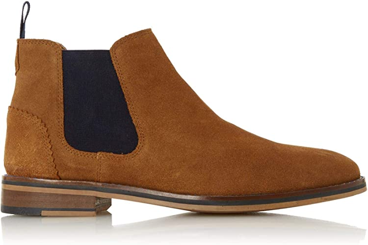 Dune Mens Merlin H Leather Chelsea Boot