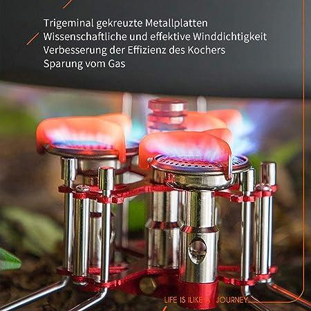 Bulin - Hornillo de gas plegable, hornillo de gas para camping, trekking, pícnic, exterior, 5800 W, 3500 W y 3200 W, 5800 W