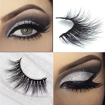 8eacf0f55fa Amazon.com : Googoo 3D Eyelashes Natural Siberian Mink Fur False Lashes  Real Soft Hand-made Fake Eyelashes for Women Reusable Luxury Fashion  Eyelashes One ...