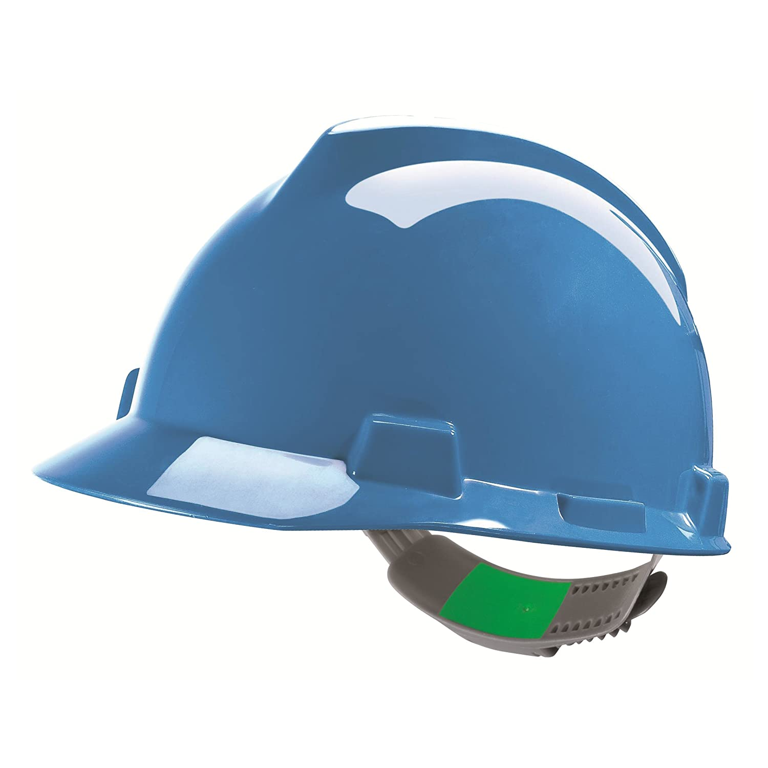 MSA V Gard Helmet EN397  Builders Helmet Work Helmet Protective Helmet Available in Various Colours, Green MSA Safety