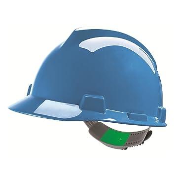 Casco de Protección MSA V-Gard con Ajuste Deslizante PushKey - Casco de Trabajo Casco de Seguridad Casco de Construcción, Color: Azul: Amazon.es: Bricolaje ...