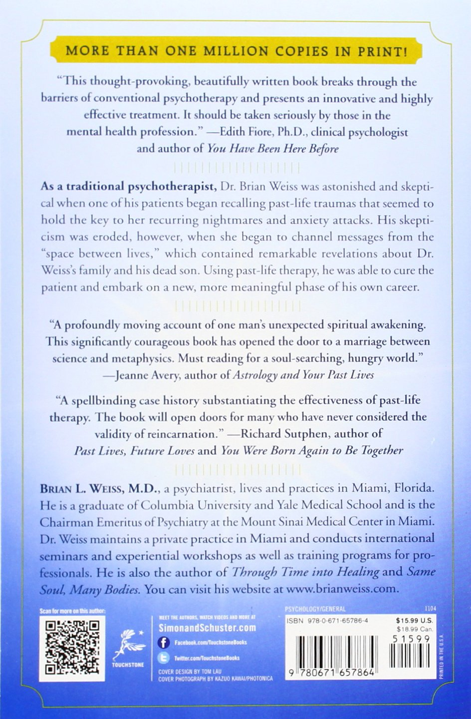 Amazon: Many Lives, Many Masters: The True Story Of A Prominent  Psychiatrist, His Young Patient, And The Pastlife Therapy That Changed  Both Their Lives