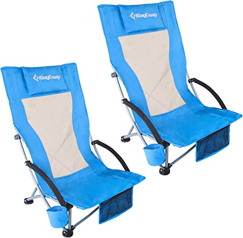KingCamp Camping High Back Beach Chair Concert Folding Chair