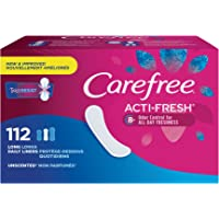 112-Count Carefree Acti-Fresh Body Shaped Panty Liners