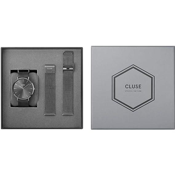 Cluse Special Edition La Boheme Reloj de Hombre Cuarzo 38mm Correa de Acero Caja de latón dial Gris CLG015: Amazon.es: Relojes