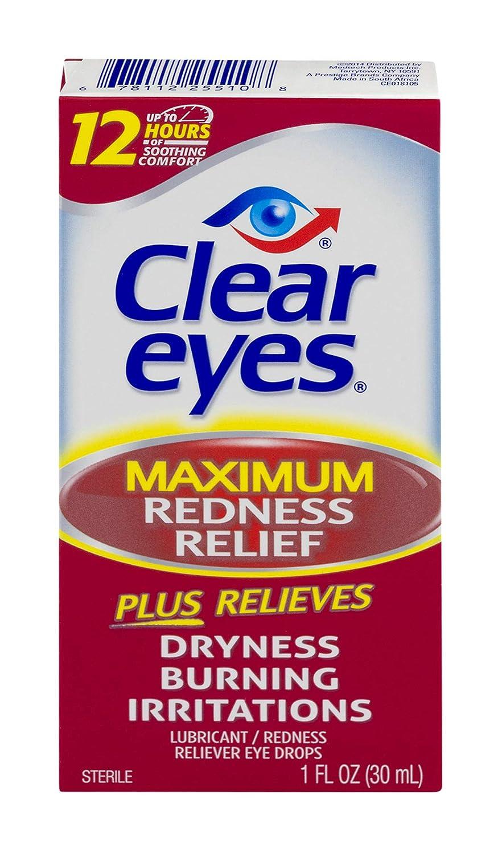 Clear Eyes | Maximum Redness Relief Eye Drops | 1 FL OZ