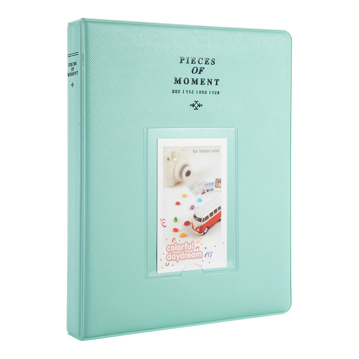 CAIUL Compatible 128 Pockets Mini Photo Album for Fujifilm Instax Mini 7s 8 8+ 9 25 26 50s 70 90 Film, Polaroid PIC-300 Z2300 Film (Ice Blue) by CAIUL