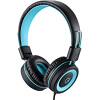Kids Headphones-Noot Products K11 Foldable Stereo Tangle-Free 5ft Long Cord 3.5mm Jack Plug in Wired On-Ear Headset for…