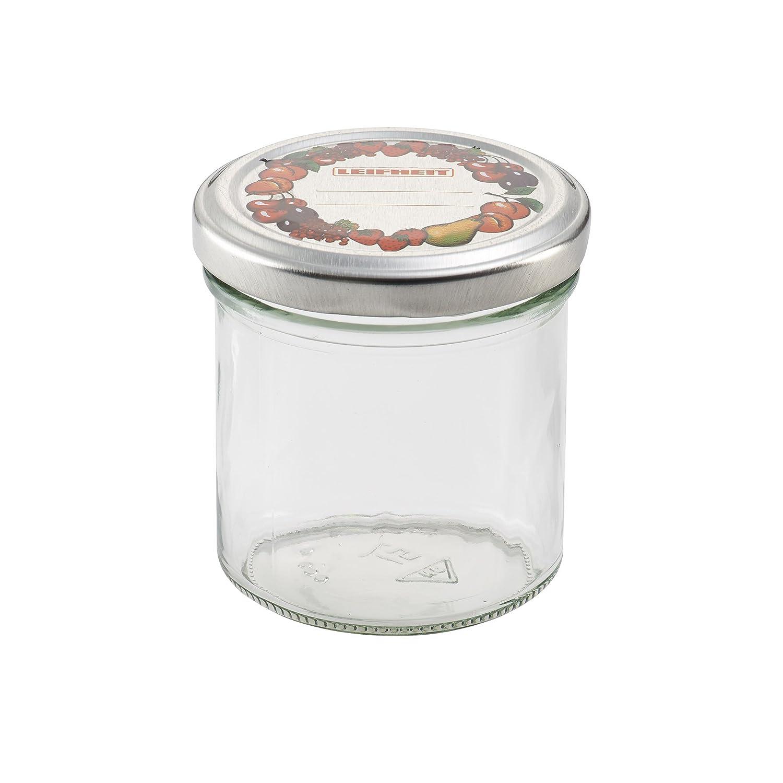 Amazon.com: Leifheit 3178 8-Ounce Straight Canning Jars, Large ...