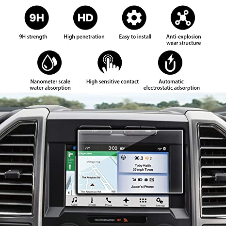 YEE PIN 2014-2018 Ford F150 F250 Sync 2 Sync 3 App Link My Ford 8 Inch  Anti-Explosion Car Navigation Screen Toughened Film
