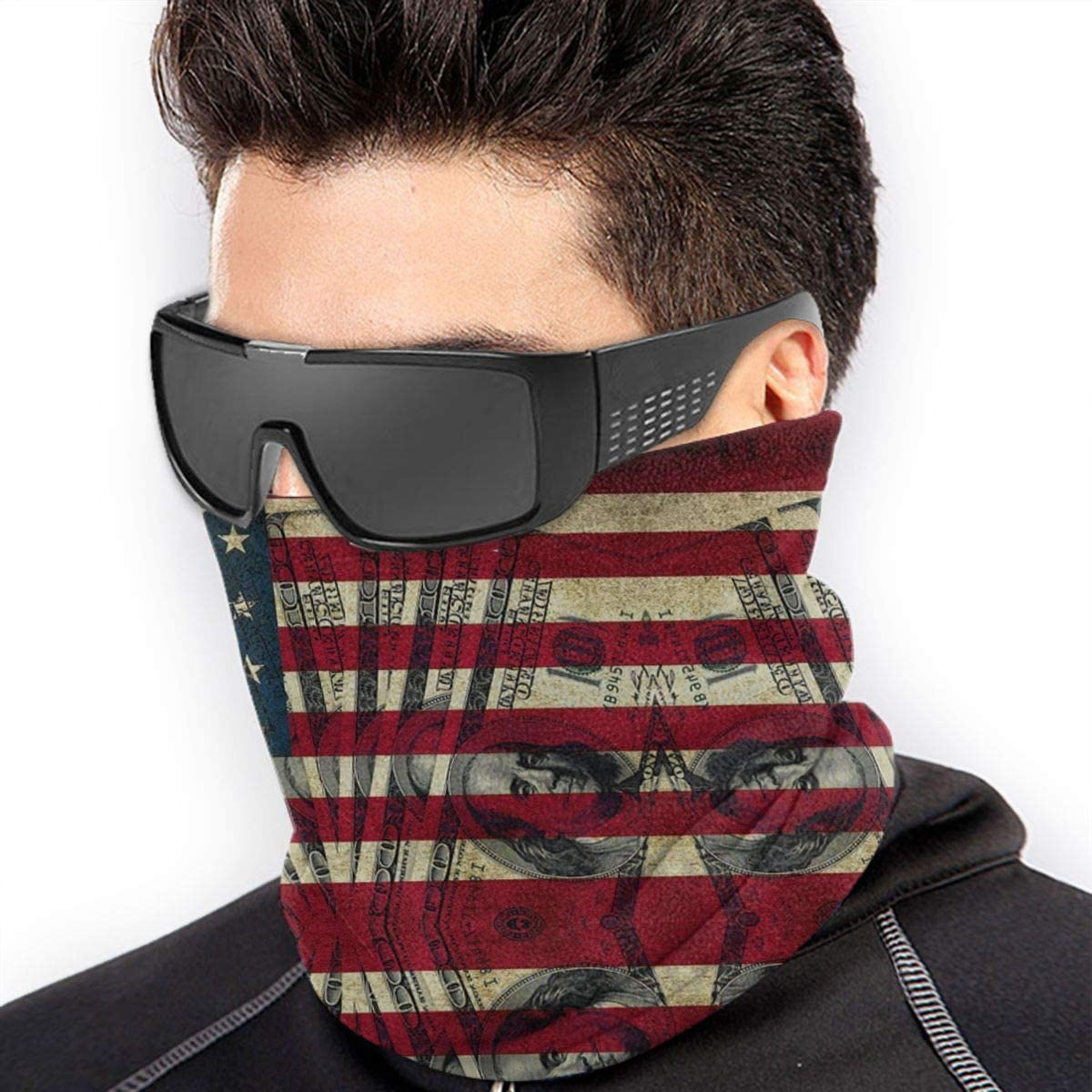 America Flag Face Mask UV Sun Mask Dust Wind Neck Gaiter Sports Mask Motorcycle Outdoor Sports Scarf Headband