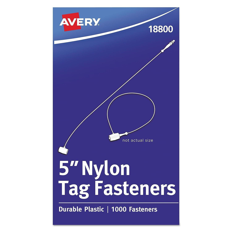 Box of 1000 Avery 18800 Nylon Tag Fasteners 5 Long Weatherproof