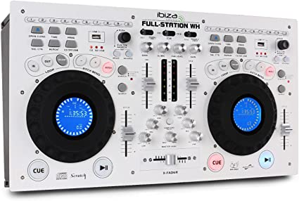 Set Ibiza full-station DJ doble reproductor CD mesa de mezclas USB ...