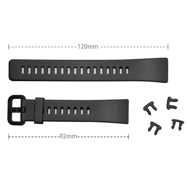 NEWZEROL Compatibile con Cinturino Protettivo per Huawei Band 3 PRO Cinturino Protettivo con Cinturino Rapido per Huawei Band 3 PRO Garanzia di Sostituzione a Vita Nero