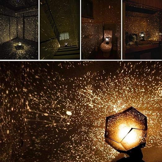Yxian Christmas Celestial Star Cosmos Lámpara de Noche Lámpara de ...