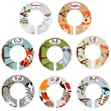 Baby Closet Dividers for Baby Clothes - Set of 8 Double Side Baby Closet Size Dividers Special Closet Organizer/Hangers Divid