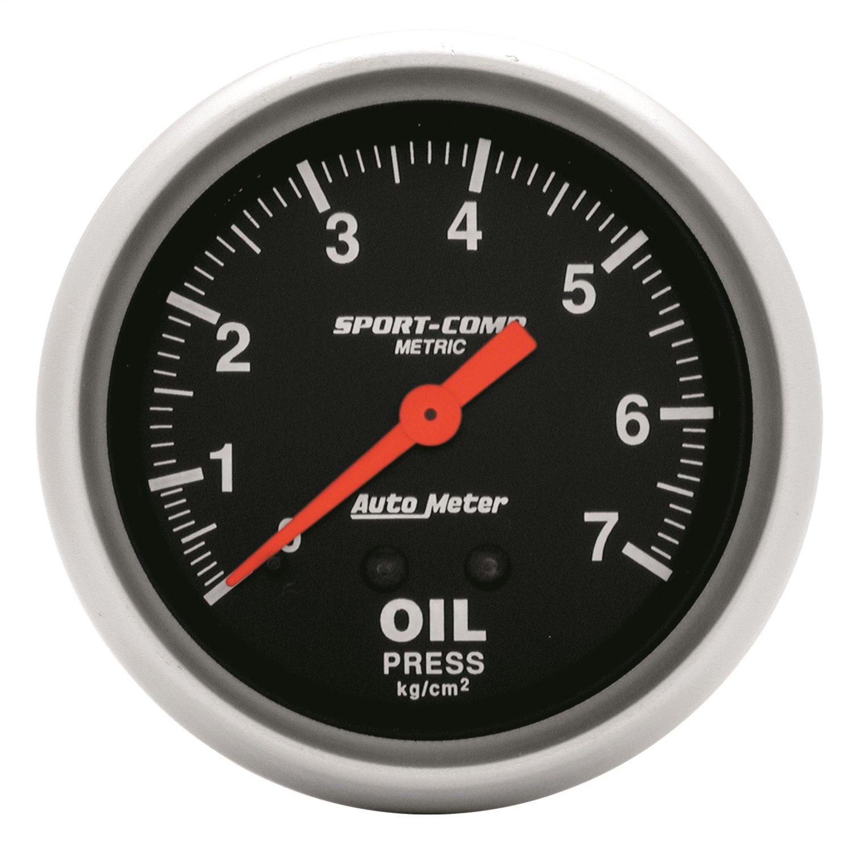 Auto Meter 3421-J Sport-Comp Mechanical Metric Oil Pressure Gauge