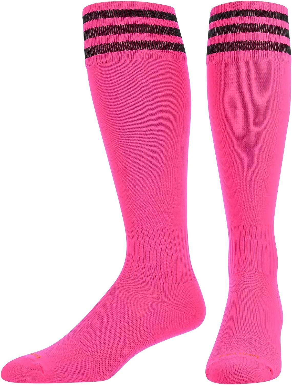 TCK Elite proDRI Finale 3-Stripe Soccer Socks With Extra Cross-Stretch For Shin Guards (17 Colors)