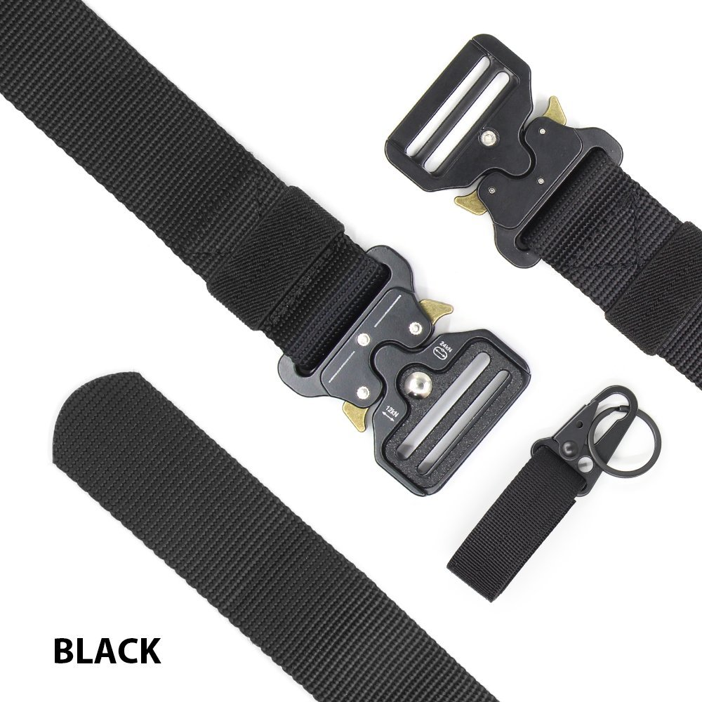 Chessun Men's Nylon Tactical Belt, 1.5'' Military Style Rigger Duty Belt Quick Release Metal Buckle 100% Full Refund Assurance by Chessun (Image #3)