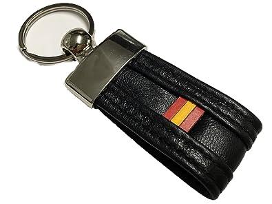 Llavero de Piel Bandera de España negro: Amazon.es: Zapatos ...