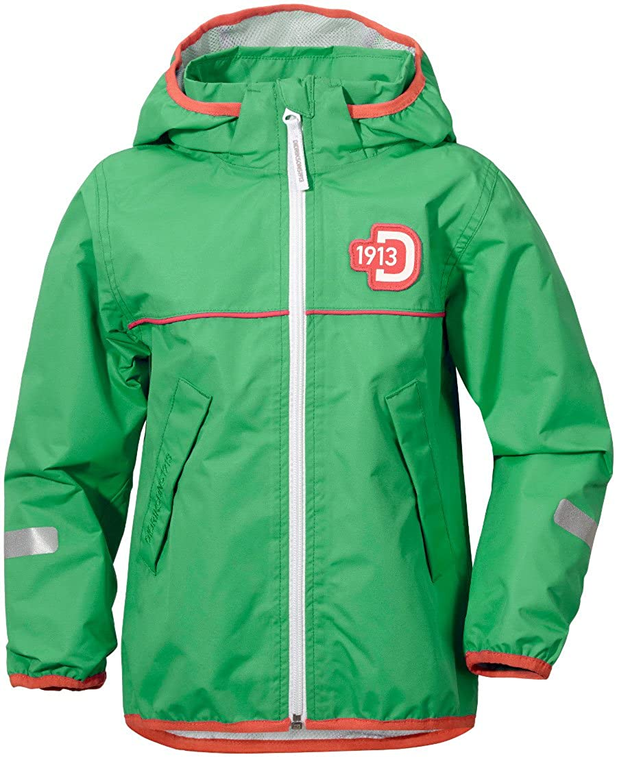 Didriksons Viskan Kids Waterproof Jacket - Island Green