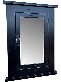 Primitive Black Mission Recessed Medicine Cabinet/Rustic/Solid Wood U0026  Handmade