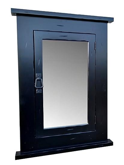 Gentil Amazon.com: Primitive Black Mission Recessed Medicine Cabinet/Rustic/Solid  Wood U0026 Handmade: Home U0026 Kitchen