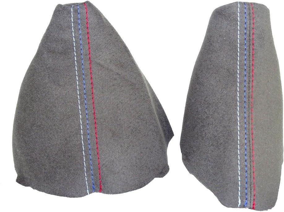 The Tuning-Shop Ltd for BMW E90 E91 E92 E93 2005-2013 Automatic Shift /& E Brake Boot Black Genuine Leather M3 ////// Stitching