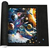 Jigsaw Puzzle Mat, E COASTAL Jigsaw Puzzle Roll Mat Storage Saver Felt Up to 1500 Pieces for Unfinished Game Pad, with A…