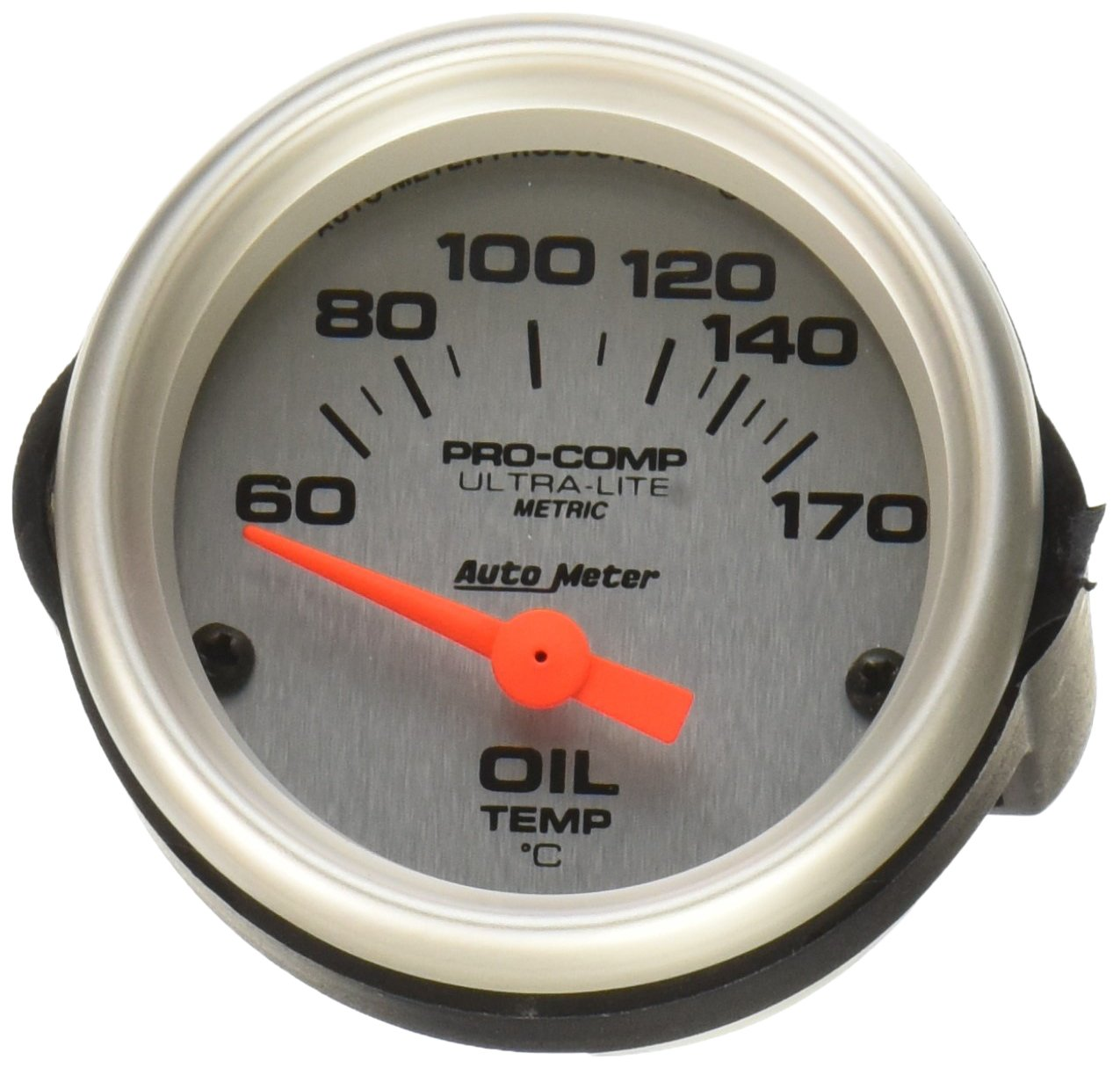 Auto Meter 4348M ULTRA-LITE 60-150 Degree Short Sweep Electric Oil Temperature Gauge