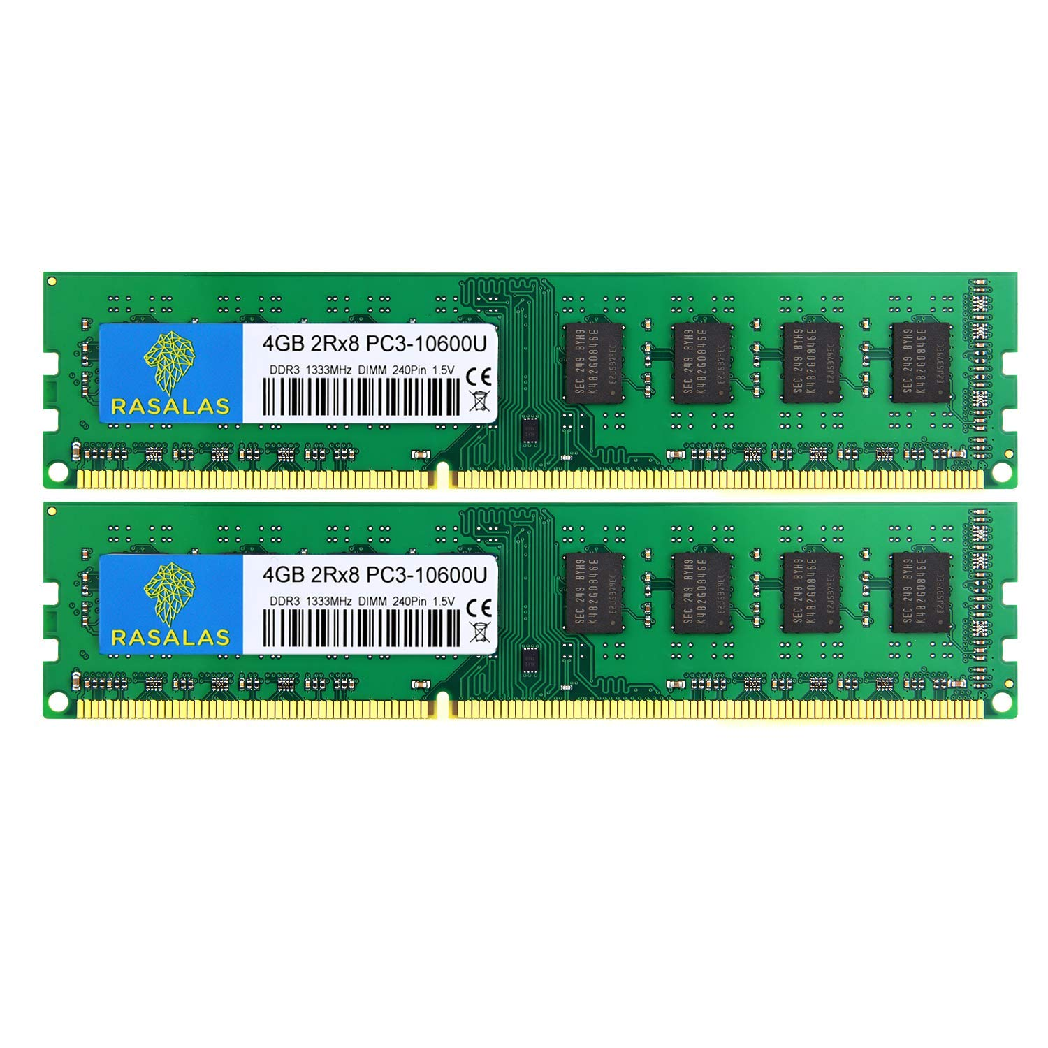 Memoria Ram 8gb Rasalas Kit (2x4gb) Pc3-10600 Ddr3 1333 Pc3 10600u Ddr3 2rx8 Pc3 10600u 1333 Mhz Ddr3 1.5v Cl9 240-pin D