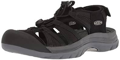 KEEN Women's Venice II H2-W Sandal, Black/Steel Grey, ...