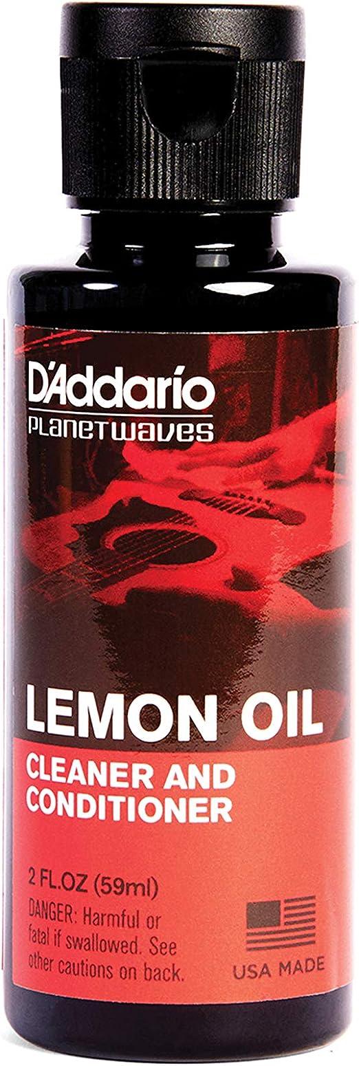 Planet Waves PW-LMN - Limpiador y acondicionador natural para guitarra (aceite de limón), color amarillo