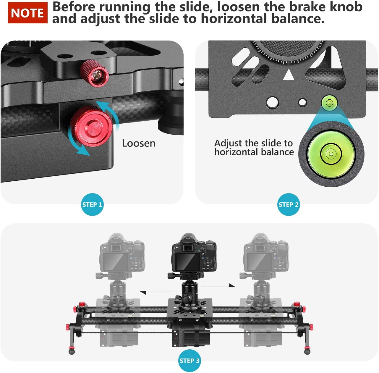Neewer Control Deslizante Cámara Motorizada 80cm Control Pista de ...