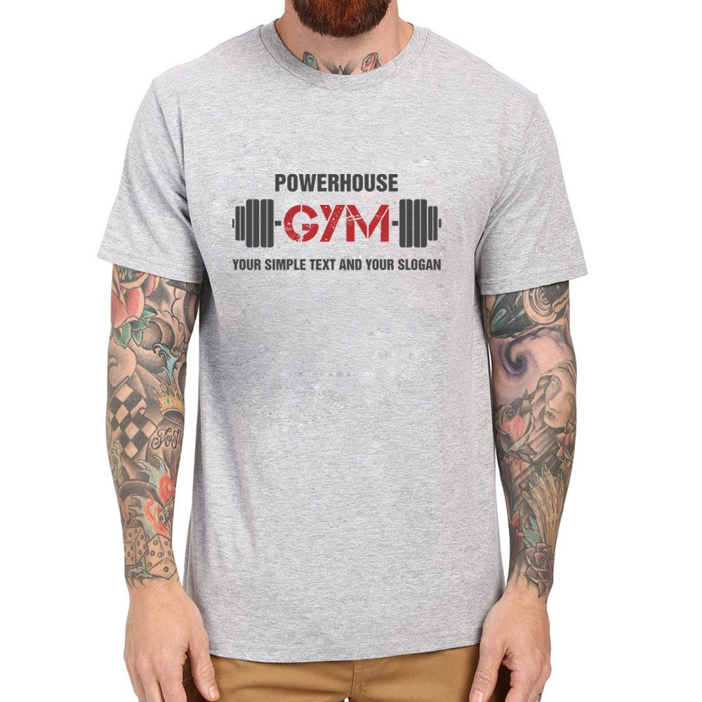 Loo Show Powerhouse Gym Your Simple Text And Your Slogan T Shirt Tee