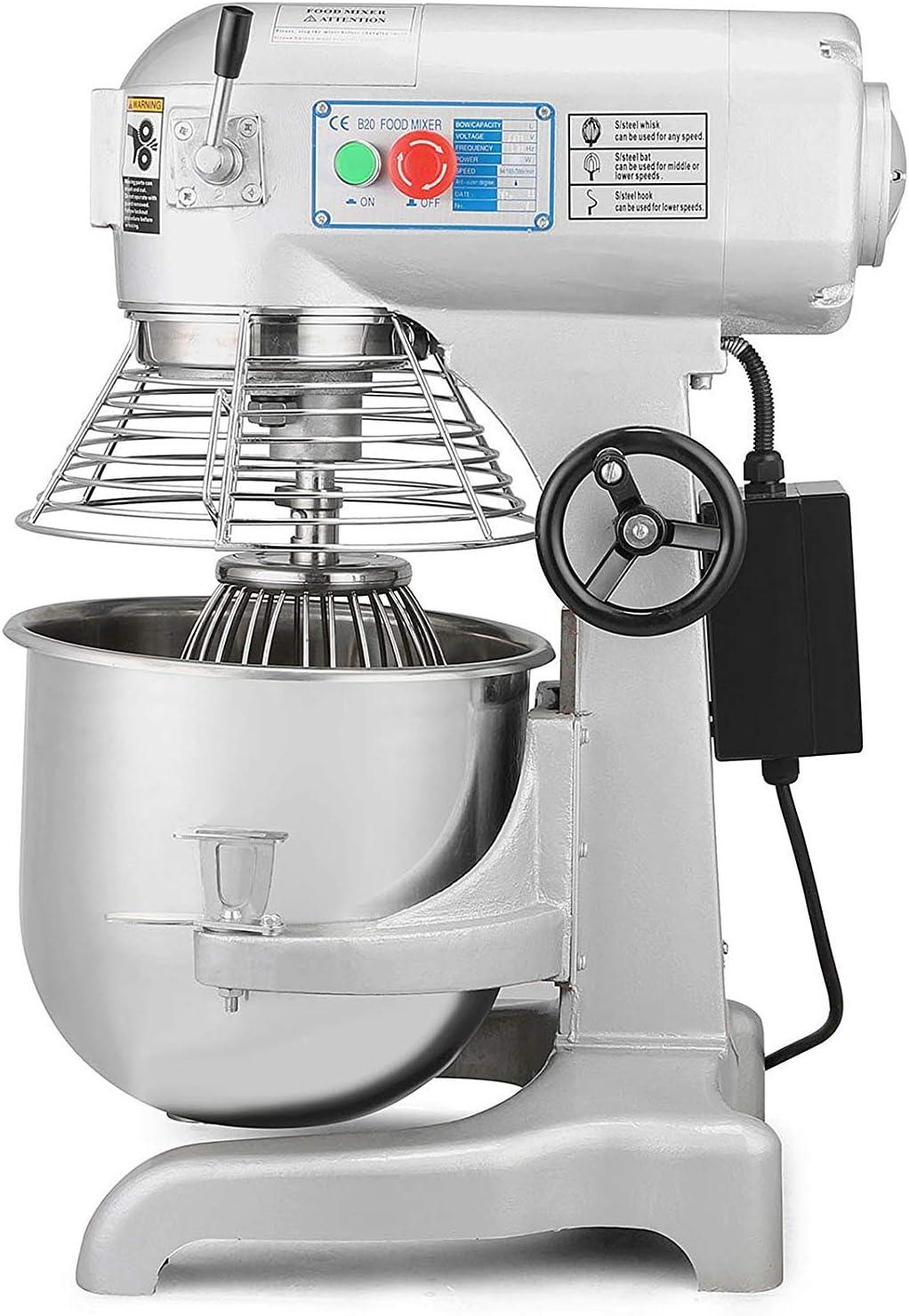 ZGYQGOO Commercial Food Mixer Machine Stand Mixer 30 Quart 1100W Electric Dough Mixer with 3 Agitator Attachments Commercial Grade (30L)