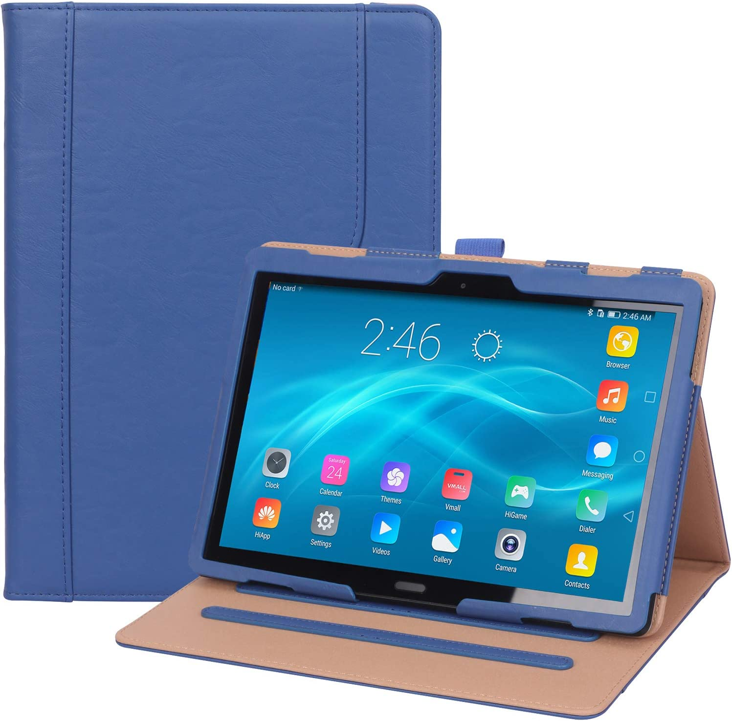 """ProCase Lenovo Tab P10 / M10 / M10 HD 10.1 Case, Leather Protective Stand Folio Case Cover for Lenovo Tab P10 TB-X705F TB-X705L / M10 HD TB-X505F TB-X505L / M10 TB-X605F TB-X605L 10.1"""" Tablet – Navy"""