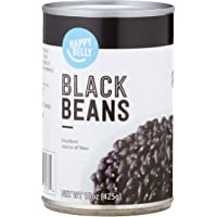 Amazon Brand - Happy Belly Black Beans, 15 oz