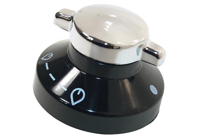 Belling - Botón de control de Cocina Negro/Plata - Genuine ...
