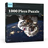 Puzzle Press   Spaceman Jigsaw Puzzle 1000 Piece Adult Puzzle - Extremely Challenging - Astronaut in Space