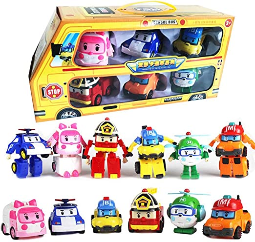 Robocar Transformer Robot POLI Robot TV Animation Figures Car Toy Christmas Gift