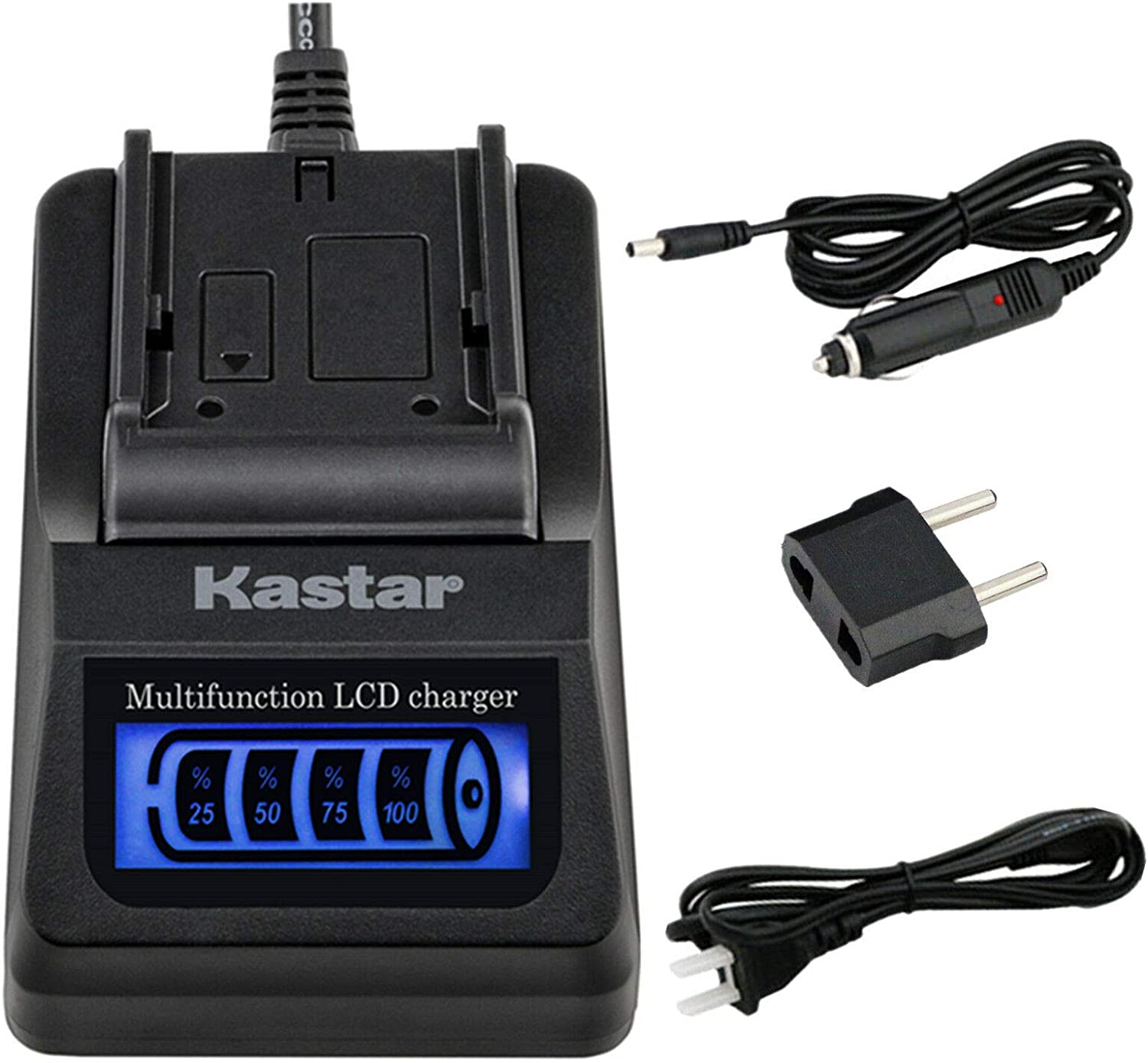 Kastar LCD Quick Charger with Car Adapter /& USB Output Compatible with Canon BP-970 BP-970G BP-975 BP-945 BP-950G BP-955 XH-G1 HDV XH-G1S XH-G1S HD XL-H1A XL-H1S XL-H1S HD XL-1 XL-1S XL-2 XH-A1SE HDV