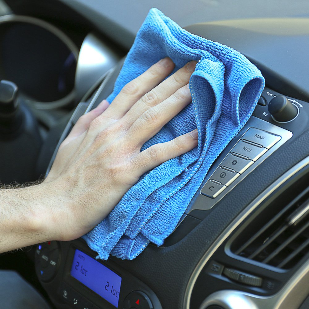 ViroKleen Microfiber Cleaning Cloth 12Qty Cleans with Very Little Effort, Ideal for Cleaning & Dusting your Valuable Goods from Electronics, Glass, IPad, TV Screens, Kitchen, Car, Furniture Polishing by ViroKleen (Image #8)