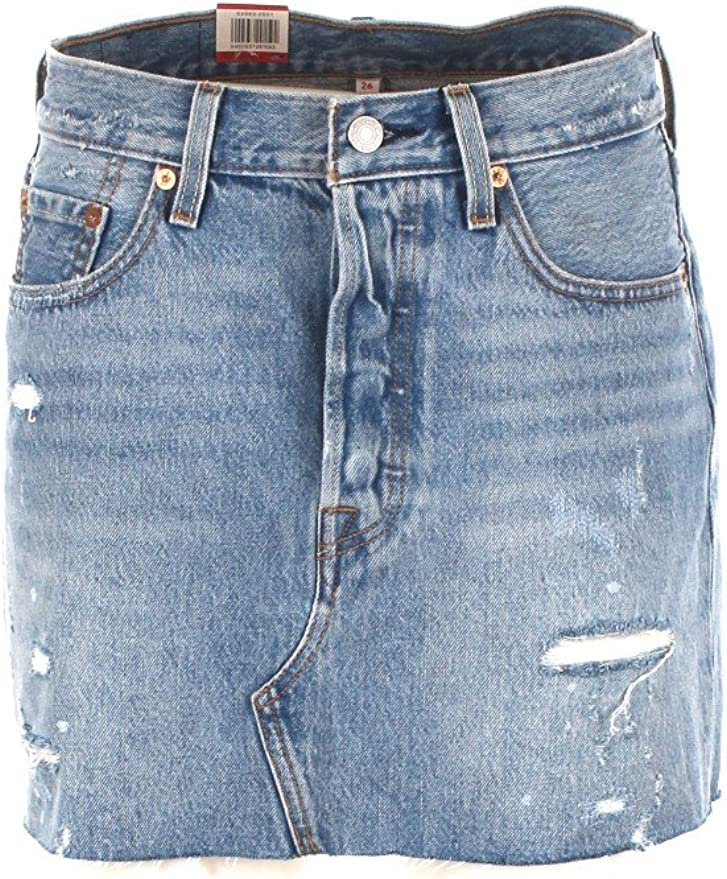 LEVIS 34963 DECONSTRUCTED SKIRT FALDAS Mujer DENIM LIGHT BLUE 28 ...