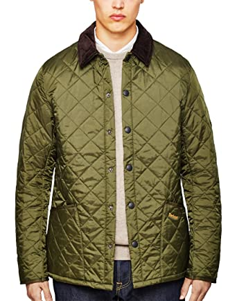 Barbour Mens Heritage Liddesdale Quilted Jacket Olive L Amazon