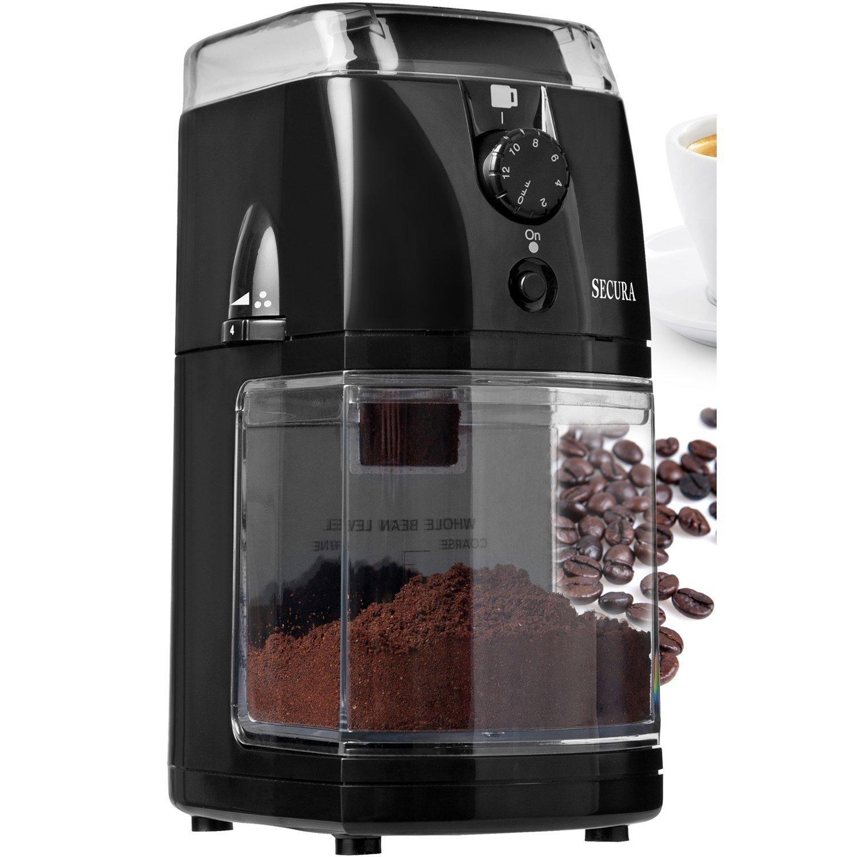 Secura SCG-903B Automatic Electric Burr Coffee Grinder Mill (2-year warranty)