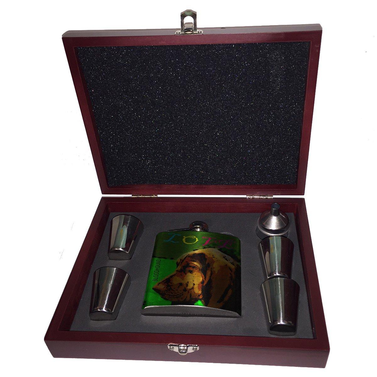 カウくる Love – My Bloodhound My – B01JYSMVXC フラスコ木製ボックスギフトセット B01JYSMVXC, Cedar Field:6597d7a7 --- advertdigitalmantra.com