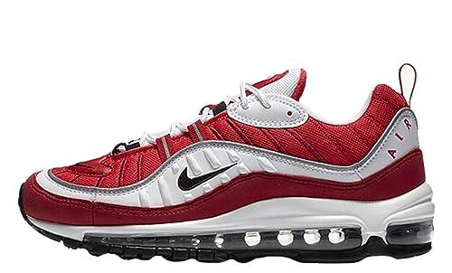 Zapatillas NIKE Wmns Air MAX 98 para Hombre en Tejido AH6799-101 Blanco y Rojo: Amazon.es: Zapatos y complementos