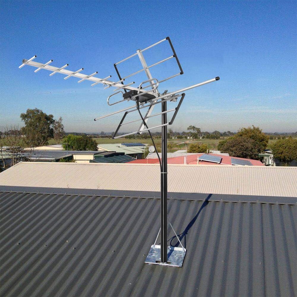 pingbingding Antena Digital para Exteriores amplificada Yagi HDTV, Amplificador de Alta Ganancia y bajo Nivel de Ruido, Cable coaxial RG6 de 40 pies, ...