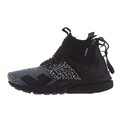 huge discount 76310 67c28 Nike Mens Air Presto Mid Acronym Cool Grey Cool Grey Black Synthetic Size 4